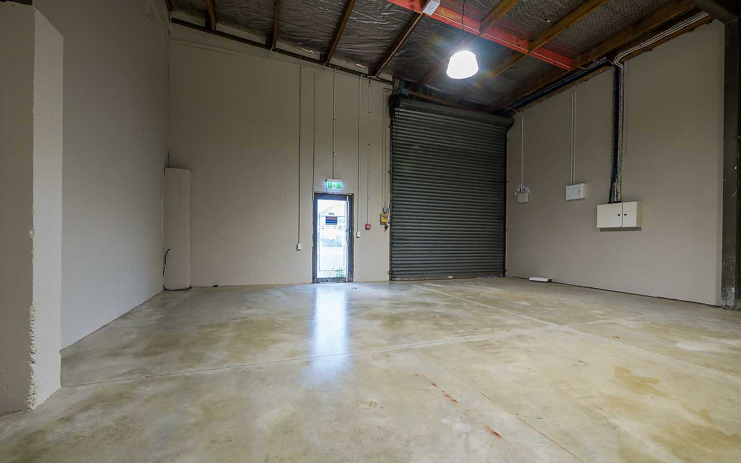 Commercial warehouse interior.