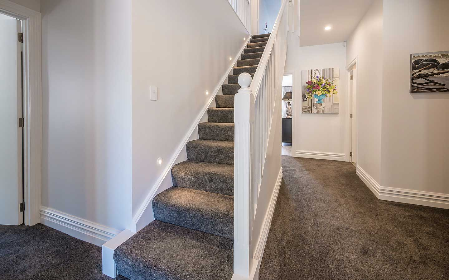 Residential stairwell.