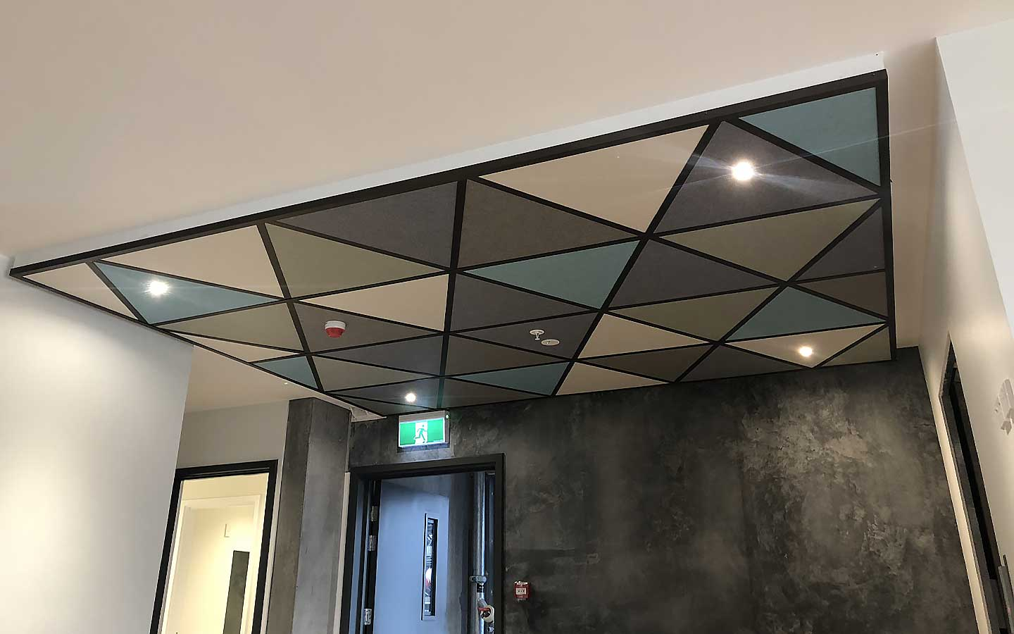 A cafe ceiling under renovations.
